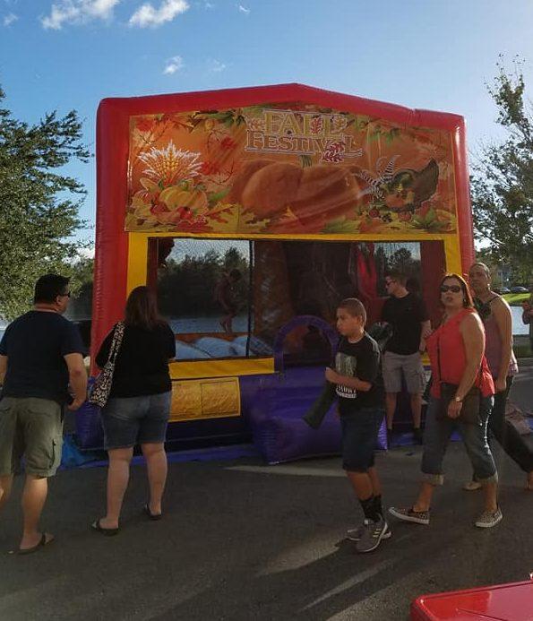 Fall Theme Bounce House