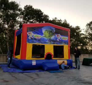 Grinch bounce house