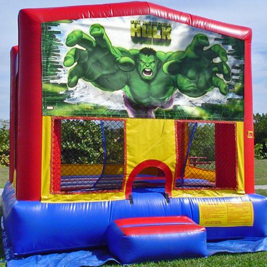 Hulk Themed Bounce House